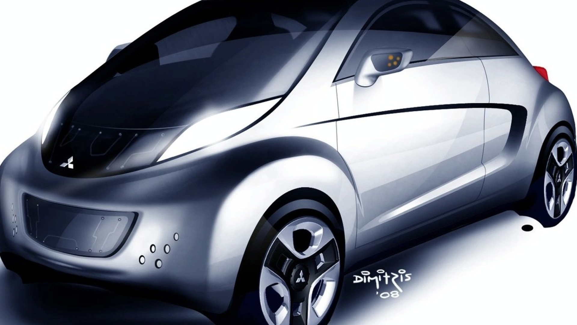 Mitsubishi i MiEV SPORT AIR Concept First Illustrations Revealed - Debut in Geneva
