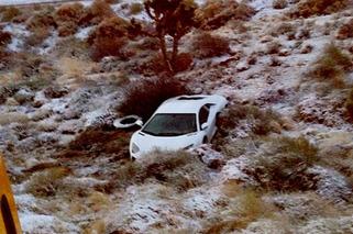 Rapper Tyga Wrecks His Lamborghini Aventador in the Desert
