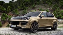 TOPCAR unveils their Vantage GOLD Porsche Cayenne Turbo, costs €180,000