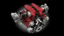 Ferrari 488 GTB biturbo V8 engine