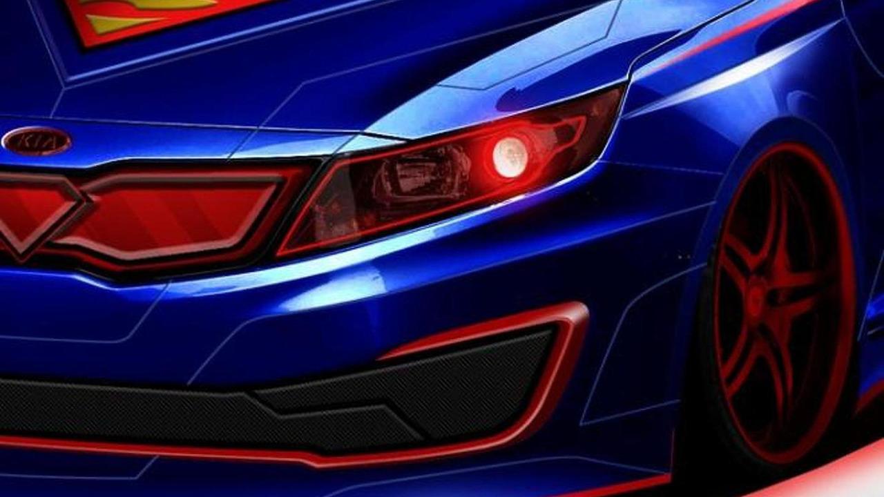 Superman-inspired Kia Optima Hybrid teaser image 29.1.2013