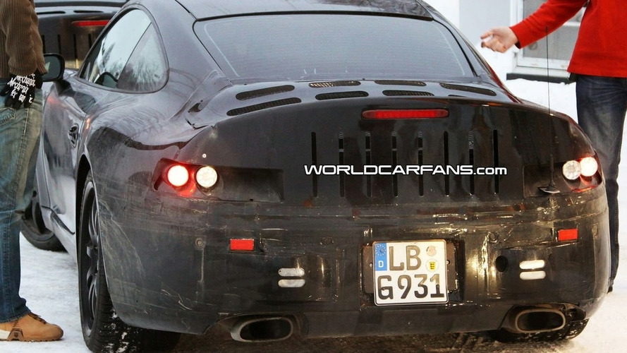 Porsche New 911/998 Coupe and Cabrio Spied Up Close at Petrol Station