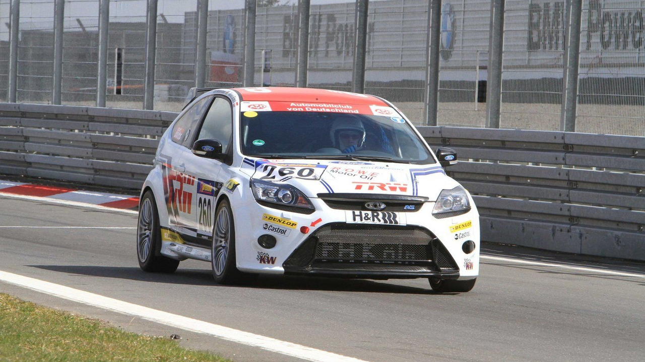 Jarr-Matti Latvala in action at Nurburgring in Ford Focus RS on 10.04.2010