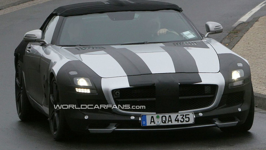 Mercedes-Benz SLS AMG Cabriolet Spied In and Around the Nurburgring