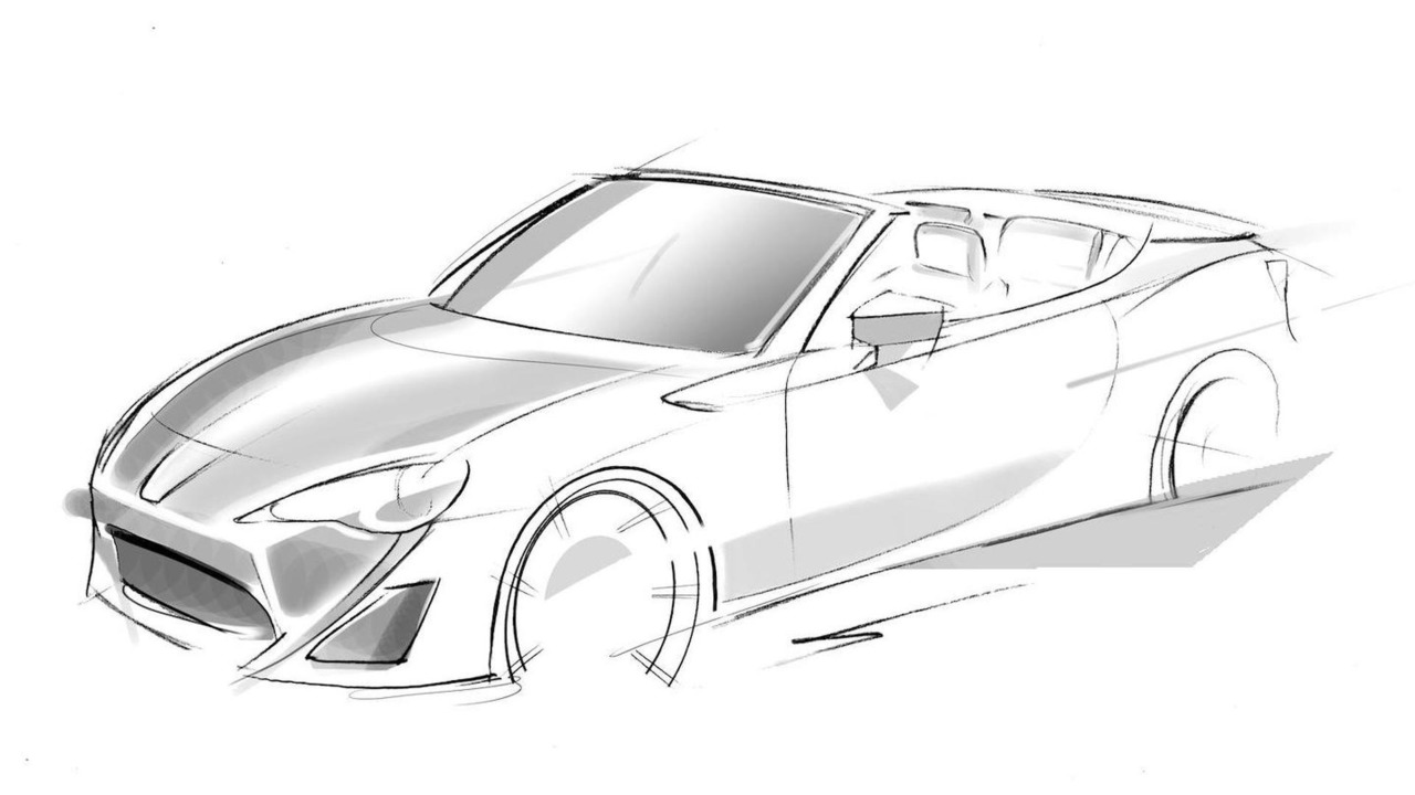 Toyota GT 86 Convertible concept design sketch