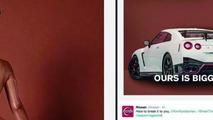 Nissan says GT-R NISMO's rear end is bigger than Kim Kardashian's