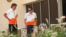 Force India team member leaving Bahrain after attack
