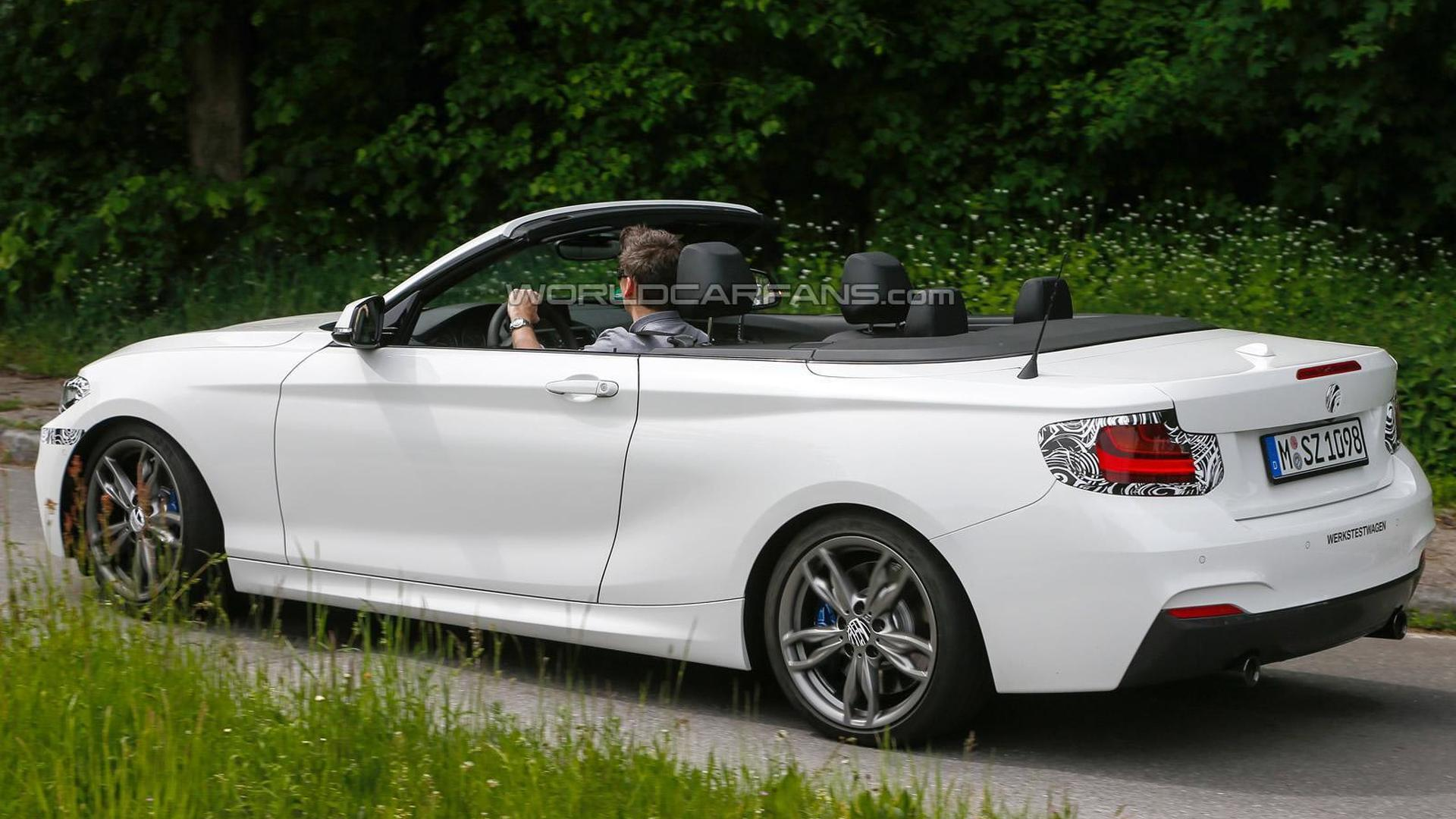 BMW 2-Series Convertible spied virtually undisguised