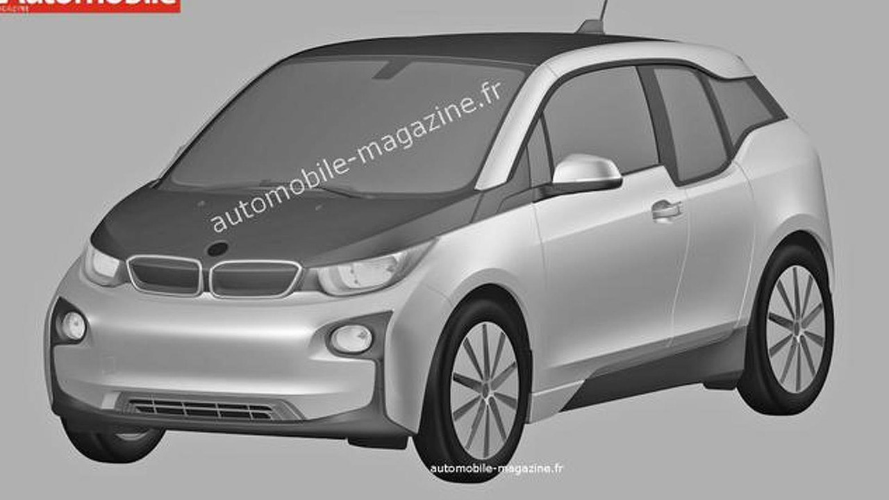 BMW i3 production version leaked in patent drawing 29.06.2013