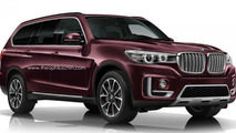 Future flagship BMW X7 rendered