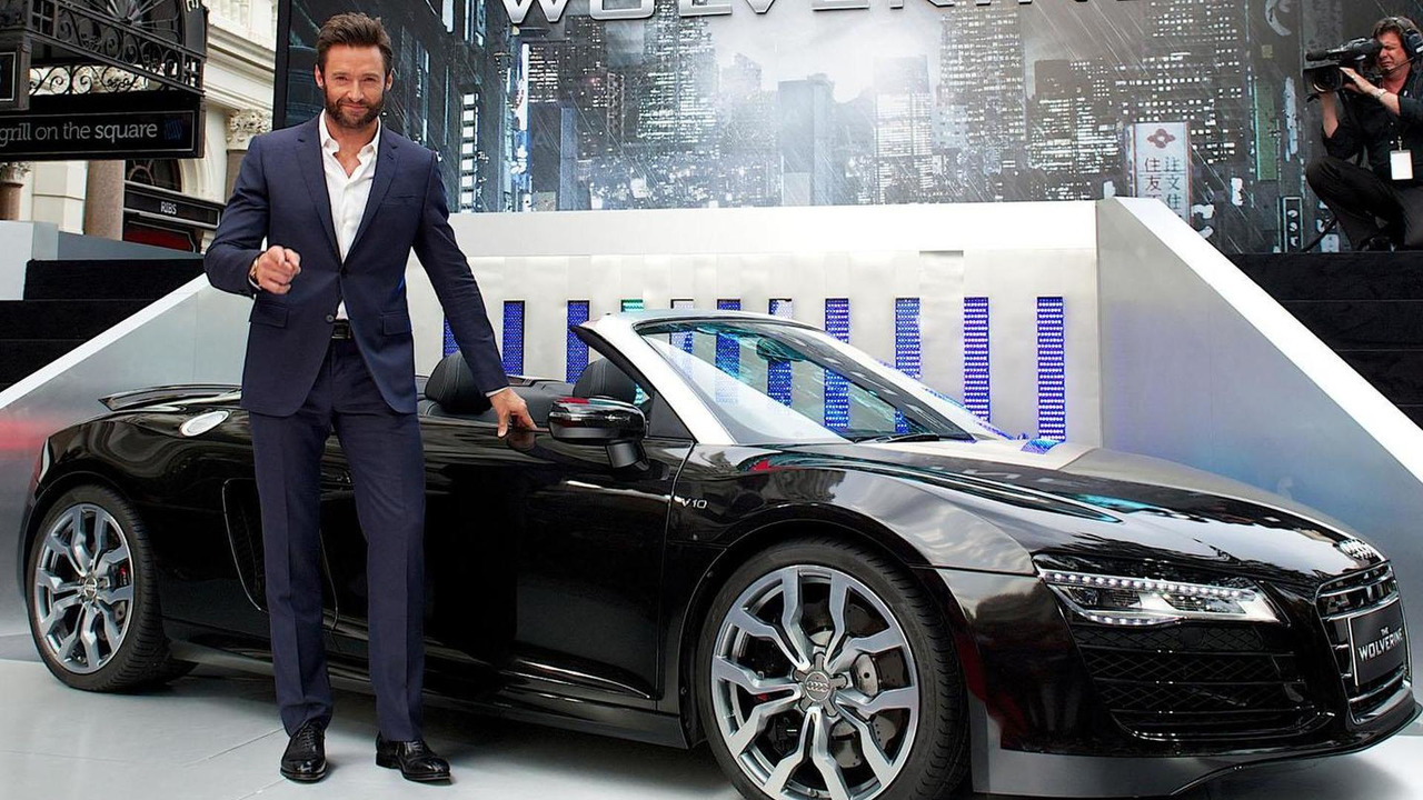 Hugh Jackman and the Audi R8 Spyder 17.7.2013
