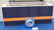 Bloodhound SSC Falcon rocket and HTP pump at Farnborough on 19.07.2010