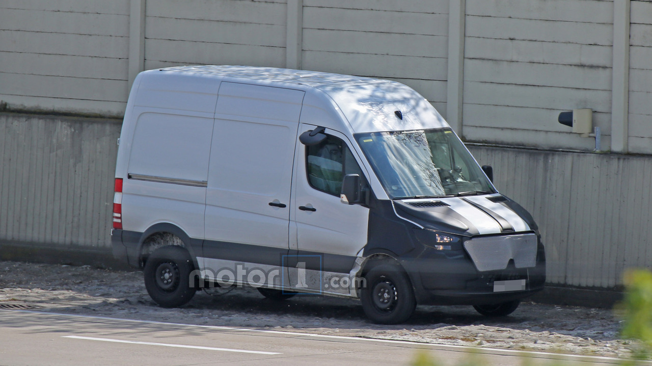 2018 mercedes benz sprinter spied with camouflaged face