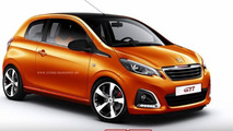 Rendering: Peugeot 108 GTi is one hot mini hatch