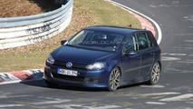 VW Golf R20T spy photo at Nurburgring
