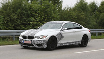 2014 BMW M4 Coupe caught lightly camouflaged