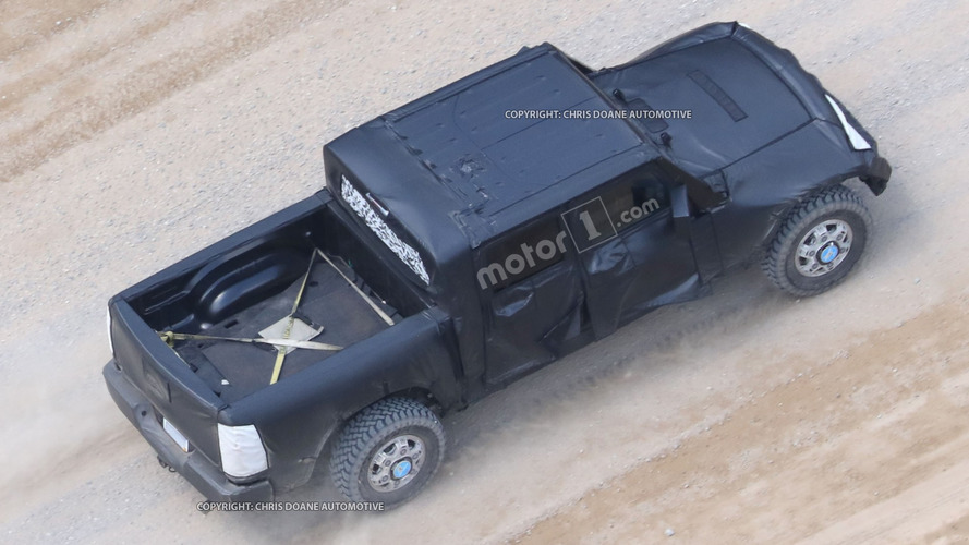 Jeep Wrangler pickup truck spy