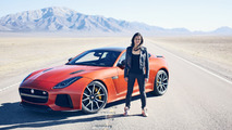 Michelle Rodriguez drives the Jaguar F-Type SVR to 201 mph [video]