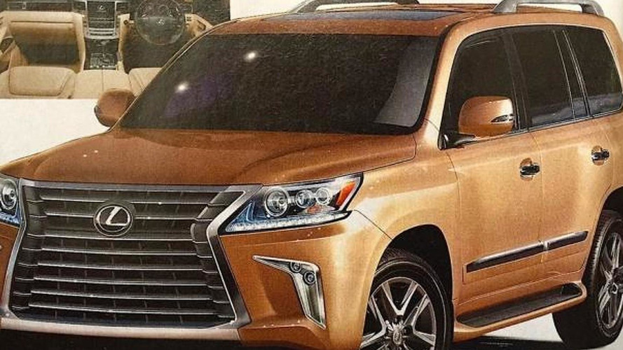 2016 Lexus LX 570 facelift leaks out early