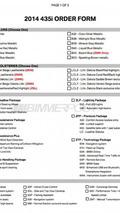 2014 BMW 4-Series 435i order guide / BimmerPost