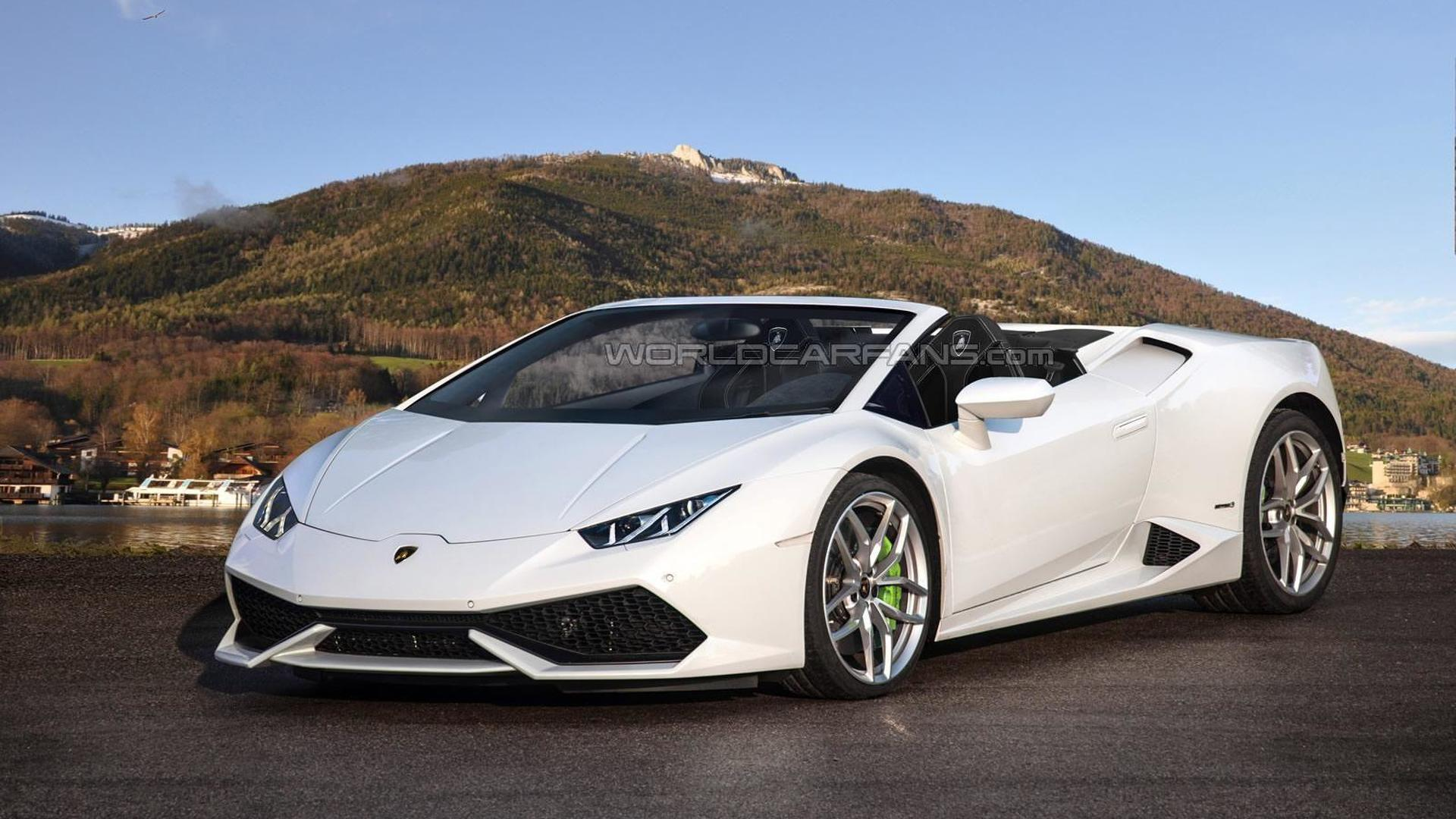 Lamborghini Huracan Spyder Speculatively Rendered