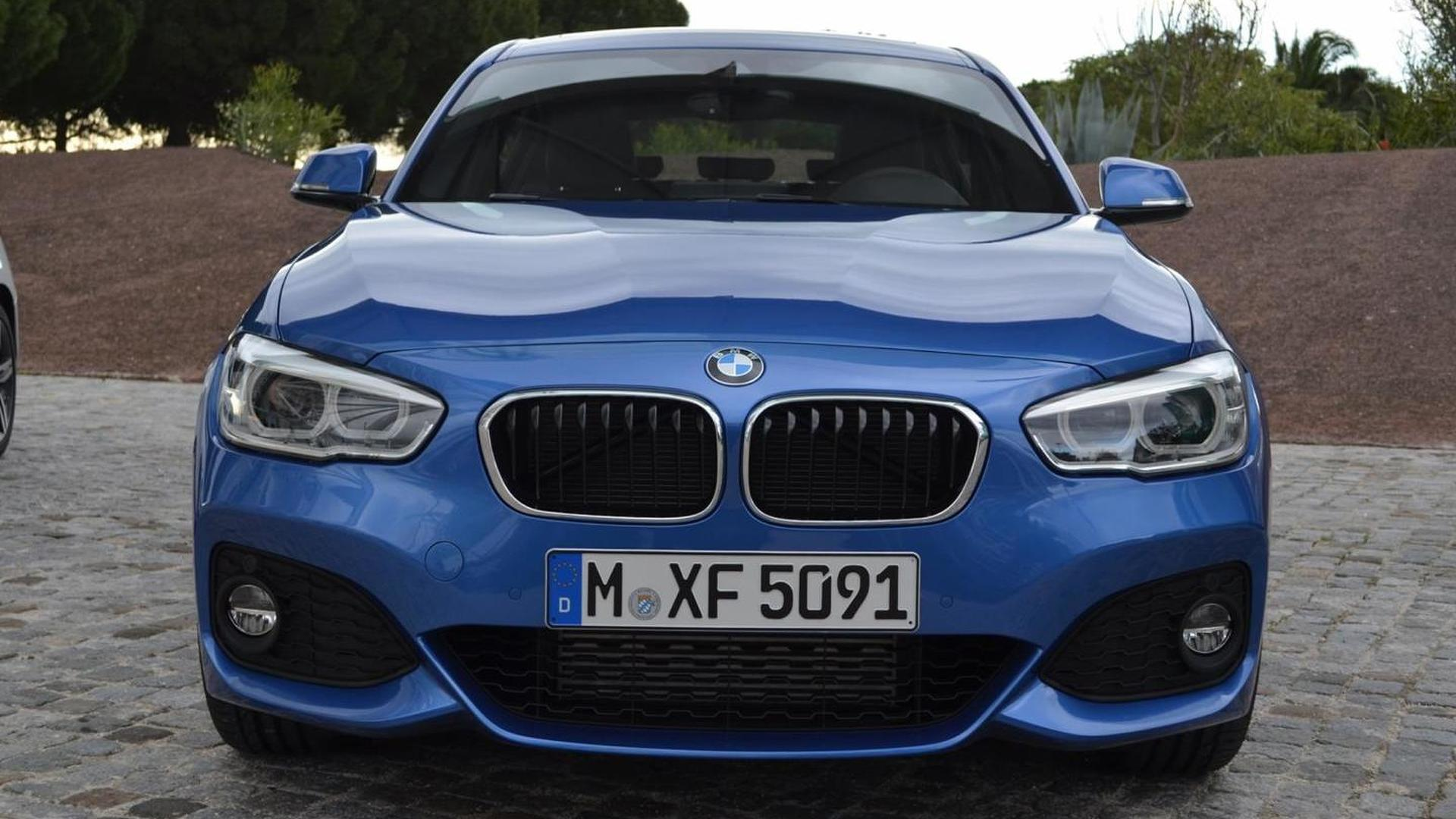BMW 1-Series facelift with M Sport Package photographed in Portugal