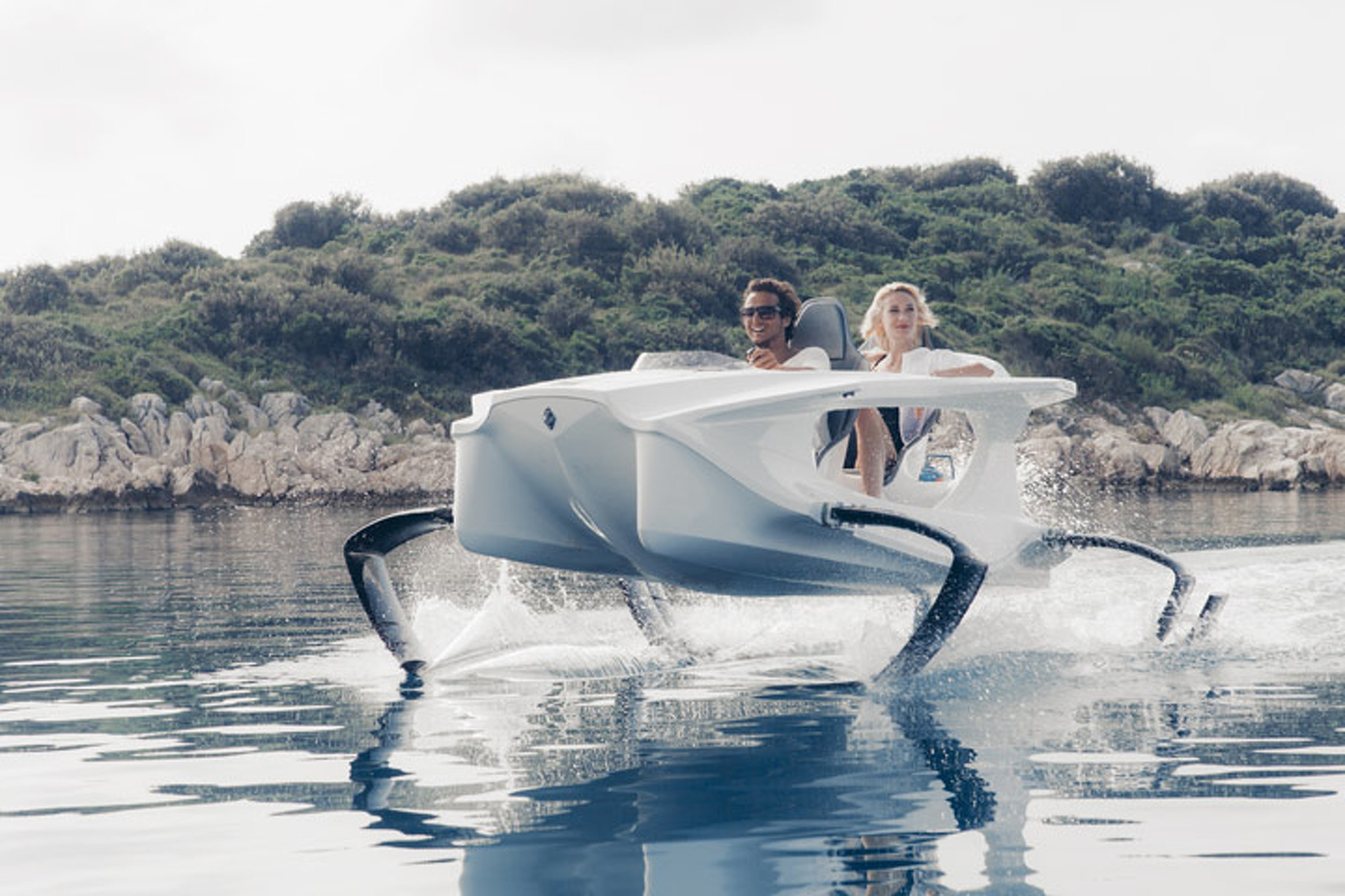 Slice Above the Waves in the World's Weirdest Aquatic Machine