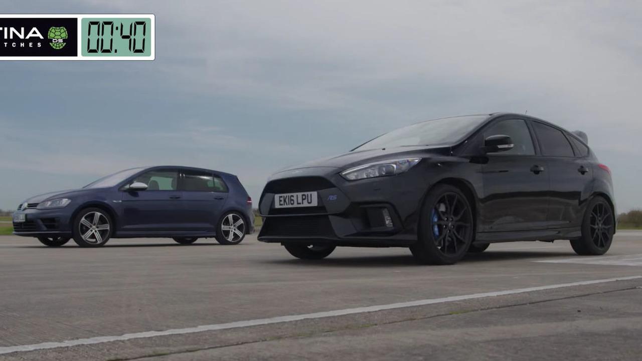 Focus RS versus Golf R race