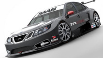 Saab 9-3 TTA race car in motion - first test [video]
