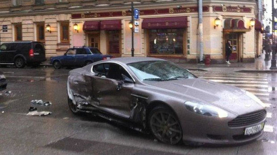 15-year-old footballer crashes new Aston Martin in Russia