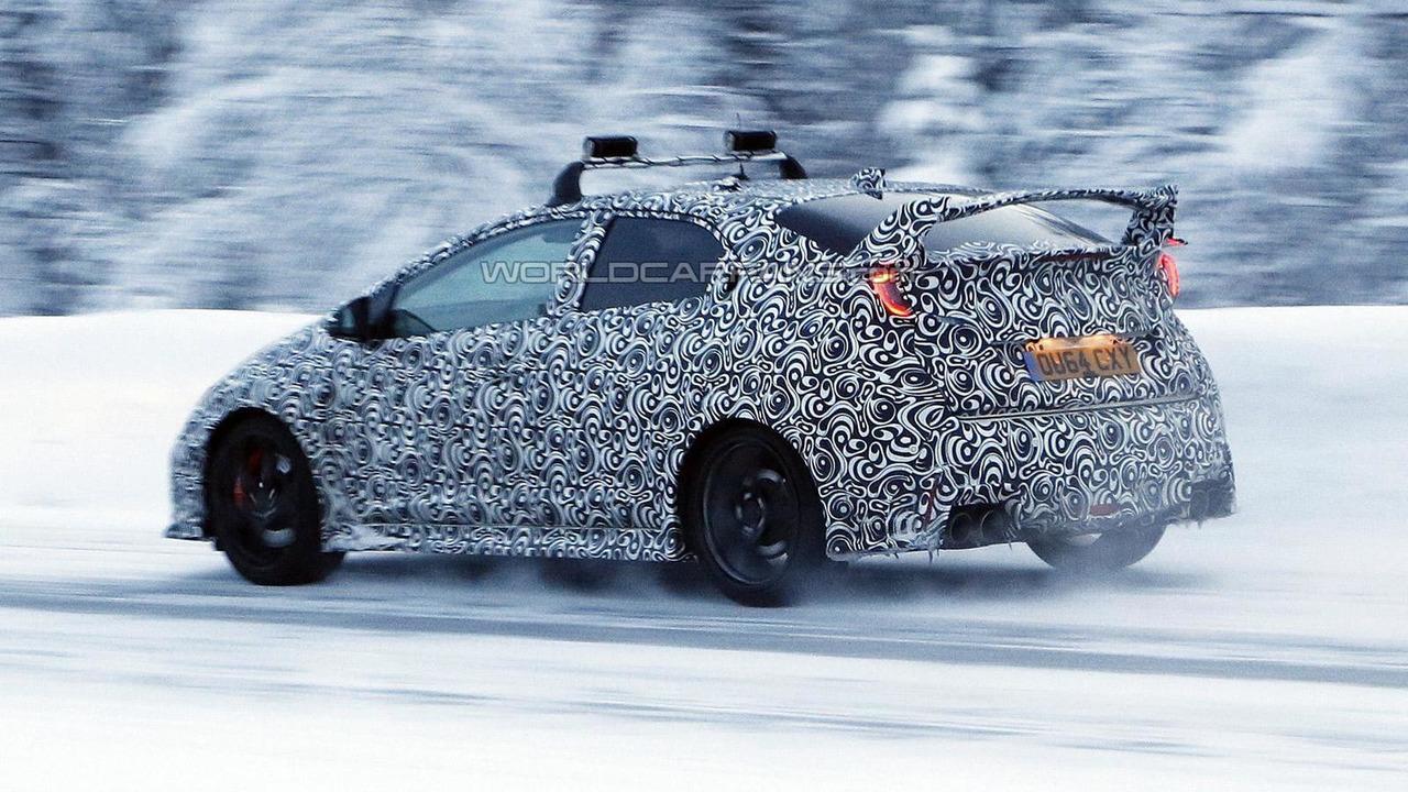 2016 Honda Civic Type R spy photo