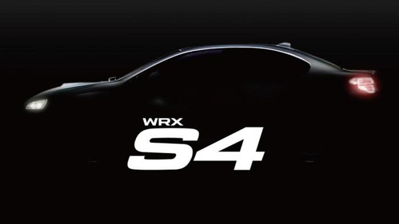 2015 Subaru WRX S4 teaser