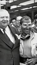 Moss with Neubauer after 1955 Mille Miglia victory