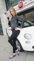 Jodie Kidd on Fiat 500 Eco Test Drive