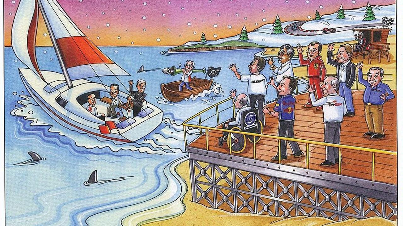 Bernie Ecclestone Christmas card 2009 reproduction - 900