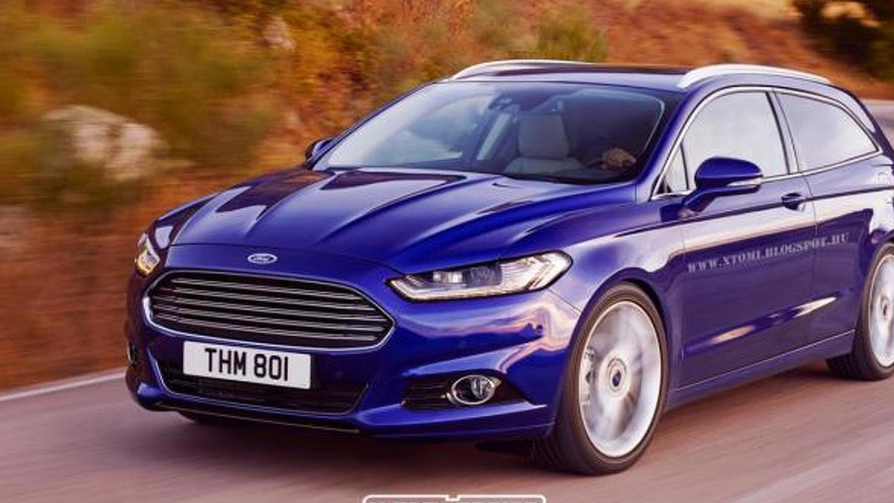 Ford Mondeo Shooting Brake rendering / X-Tomi Design