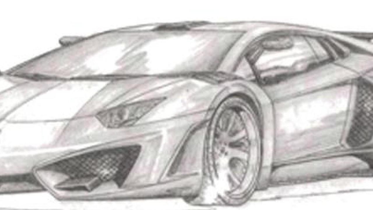 Lamborghini Aventador by FAB Design sketch 05.08.2013