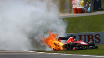 Computers damaged in Marussia factory fire