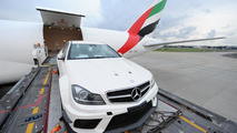 First Mercedes C63 AMG Coupe Black Series first touch in Australia 03.03.2012