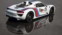 Porsche 918 Spyder with Martini Racing livery