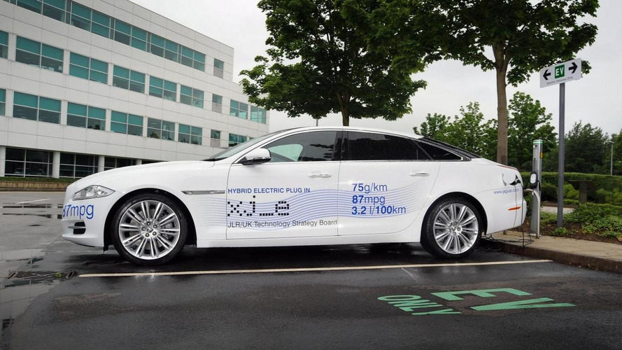 Jaguar XJ_e plug-in hybrid research vehicle headed for Goodwood