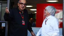 Sergio Marchionne, Ferrari President and CEO of Fiat Chrysler Automobiles with Bernie Ecclestone