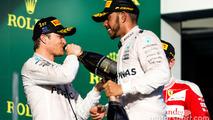 Podium: winner Nico Rosberg, Mercedes AMG F1 Team, second place Lewis Hamilton, Mercedes AMG F1 Team