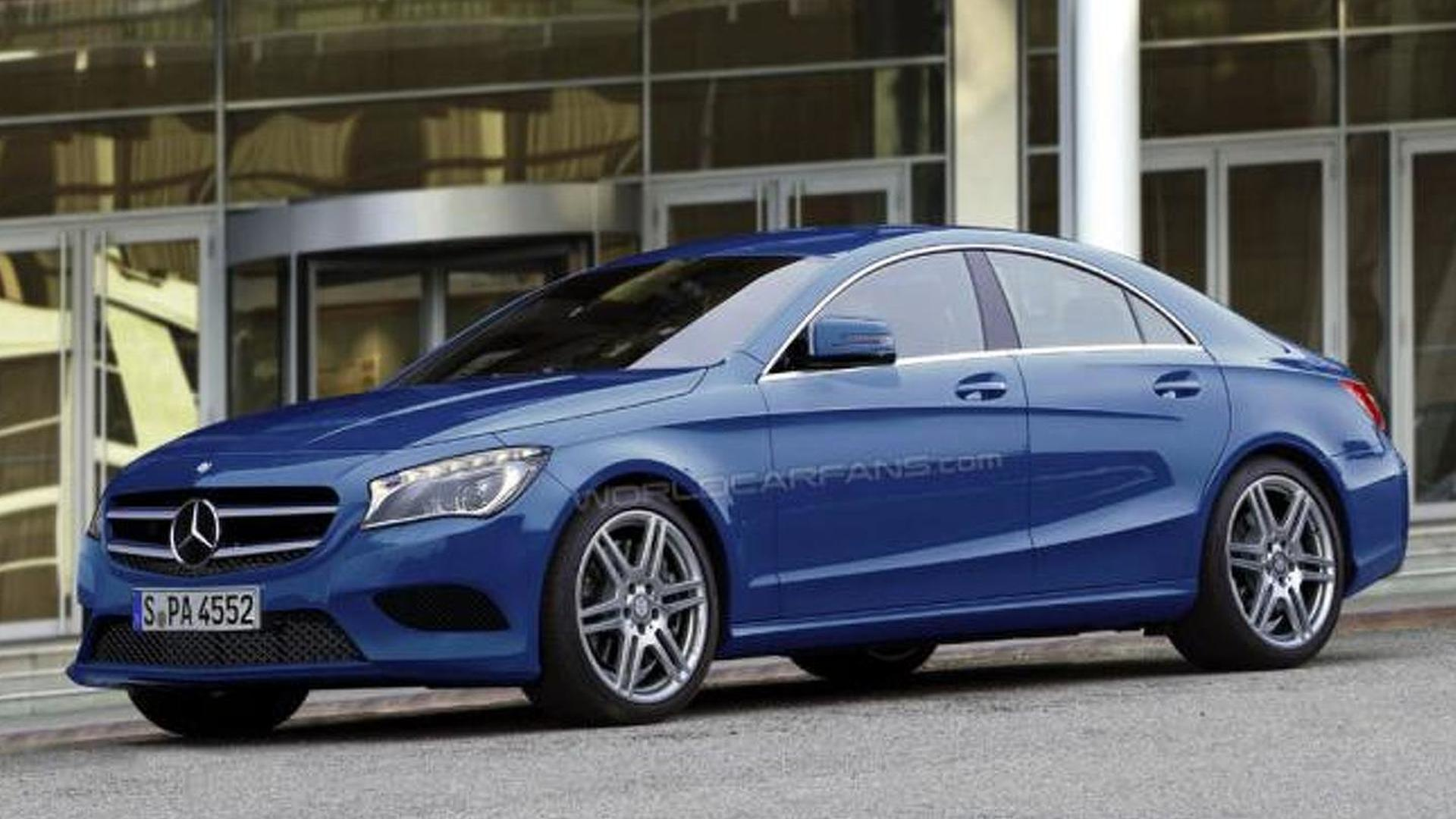 mercedes officially confirms the cla clc four door coupe. Black Bedroom Furniture Sets. Home Design Ideas