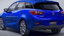 Mazda2 wagon rendered but unlikely to happen