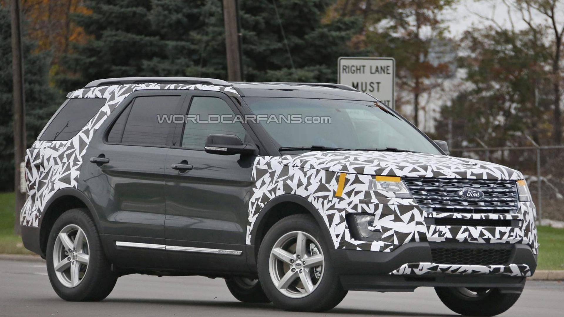 2016 Ford Explorer facelift spied with minimal camouflage