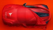 Icona teases V12-powered Vulcano for Shanghai Auto Show