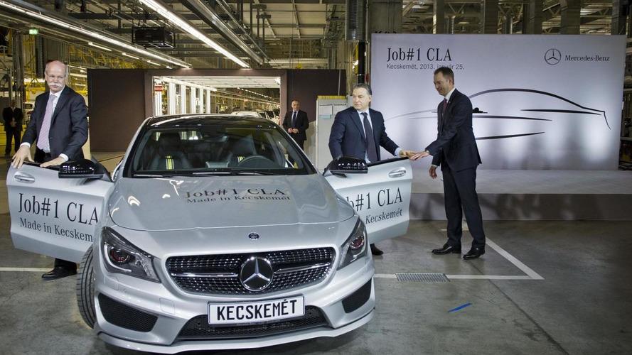 Mercedes-Benz CLA enters production