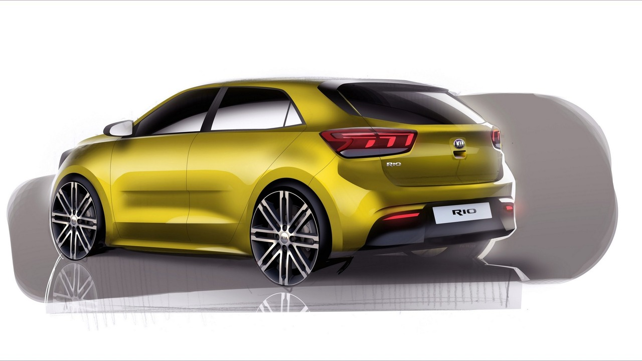 2017 kia rio teased ahead of september 29 reveal. Black Bedroom Furniture Sets. Home Design Ideas