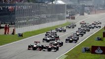 2013 Italian Grand Prix at Monza, race start, 09.09.2012